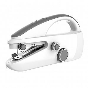Pocket size household sewing machine with single thread