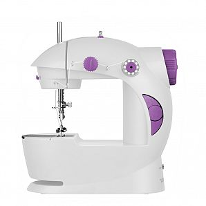 Mini sewing machine by hand switch or foot pedal